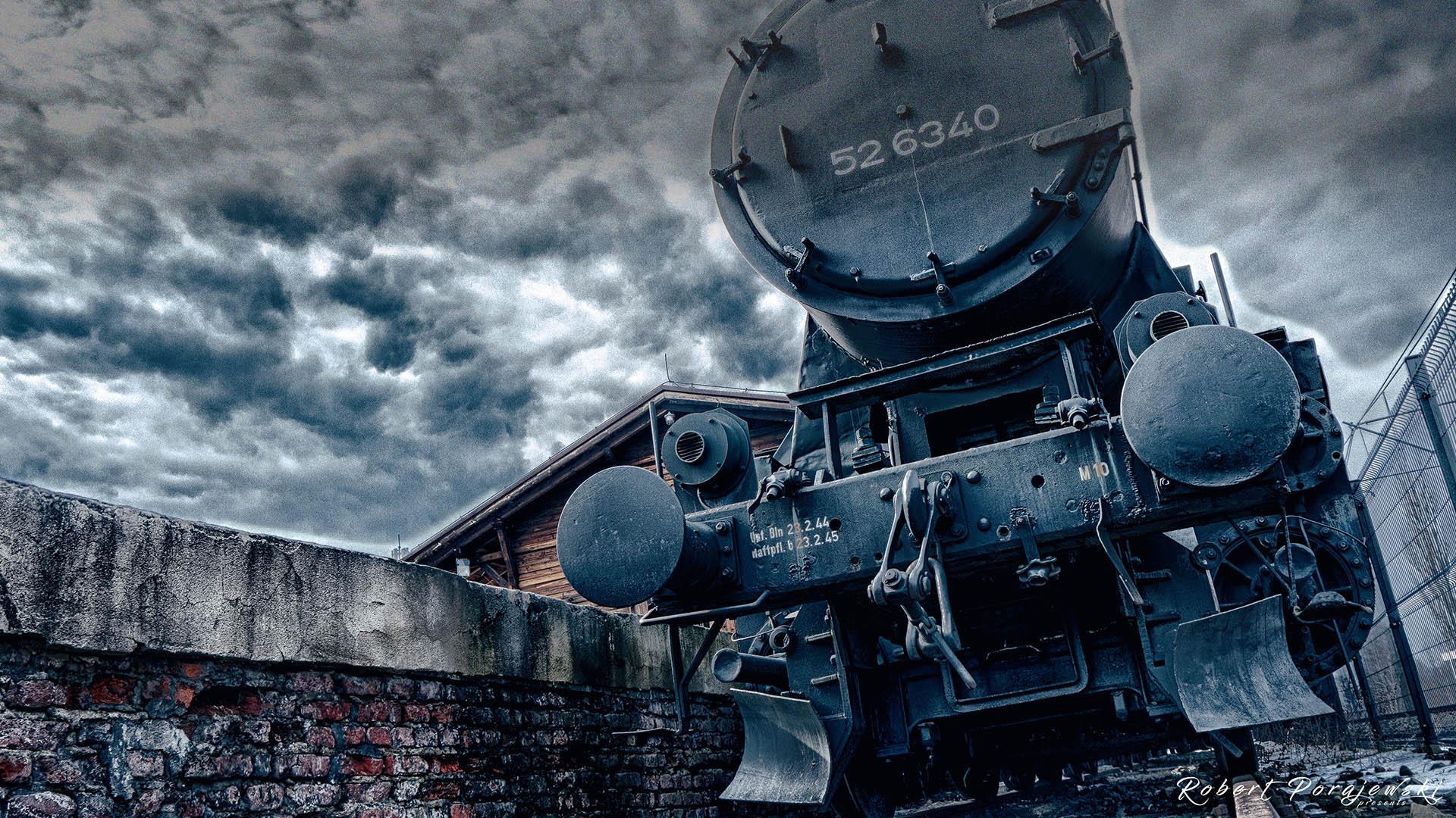 lokomotywa na stacji radegast