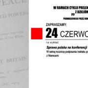 Sprawa polska na konferencji w Wersalu – wykład