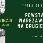 """Powstanie warszawskie – na drugiej linii"""""""